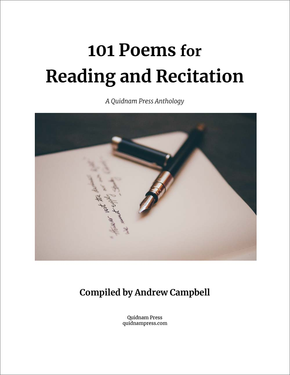 101 Poems for Reading and Recitation